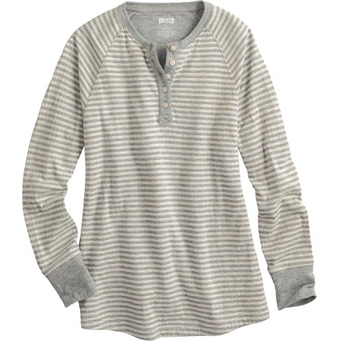 Women's Double Soft Henley Longtail T
