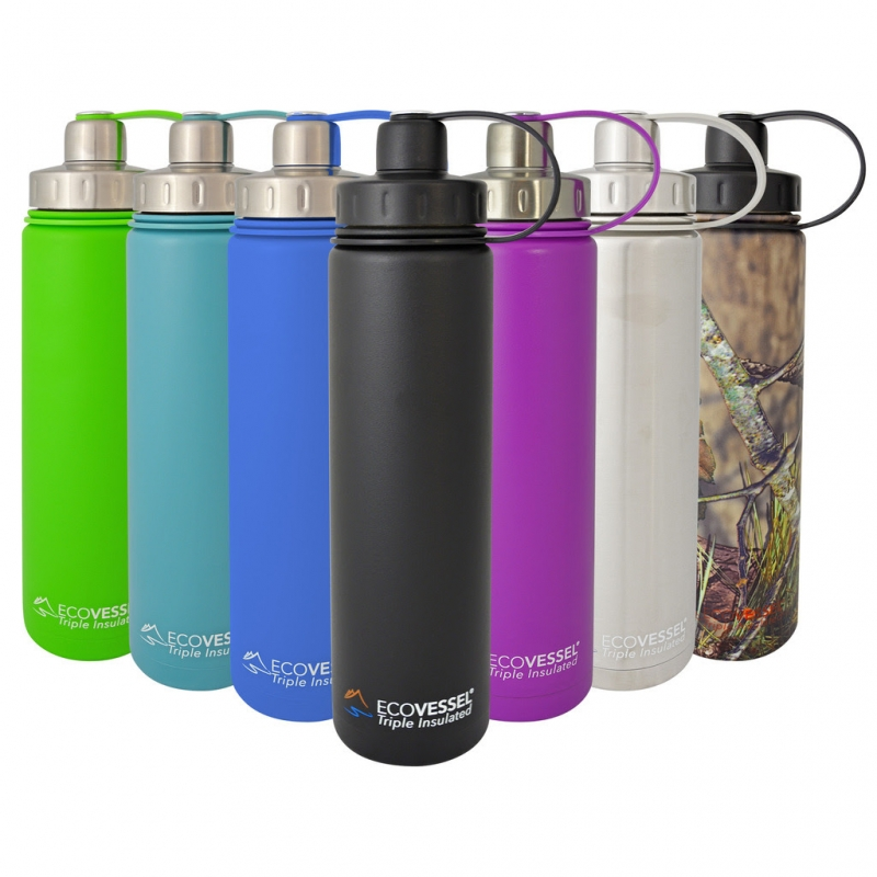 Boulder Triple Insulated Stainless Steel Water Bottle with Tea, Fruit, Ice Strainer - 20 oz