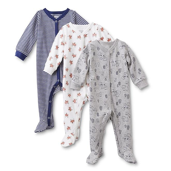 Infants' 3-Pack Sleeper Pajamas