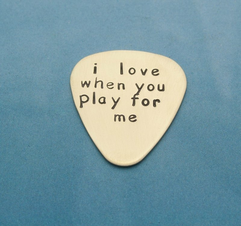 Hand Stamped Personalized Guitar Pick