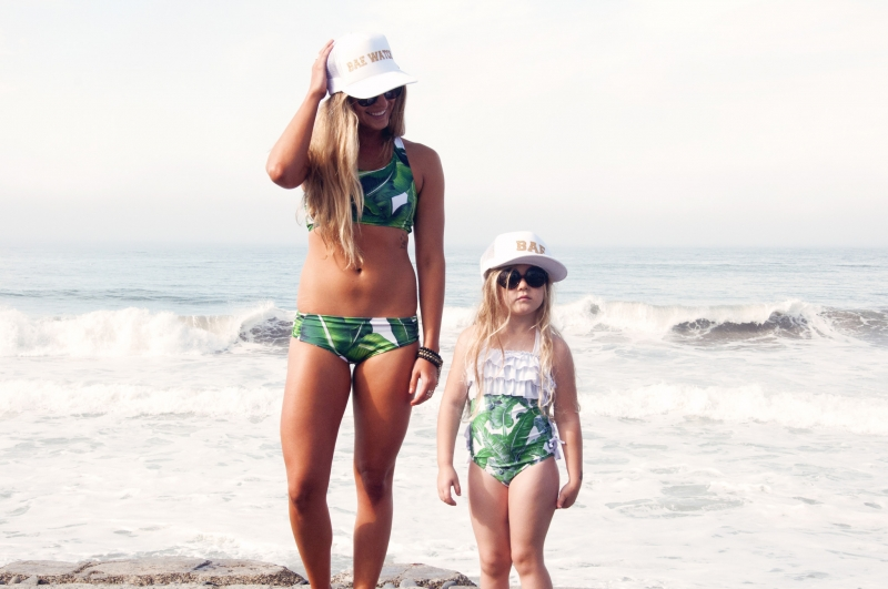 Mommy & Me Bathing Suits and Hats Collection
