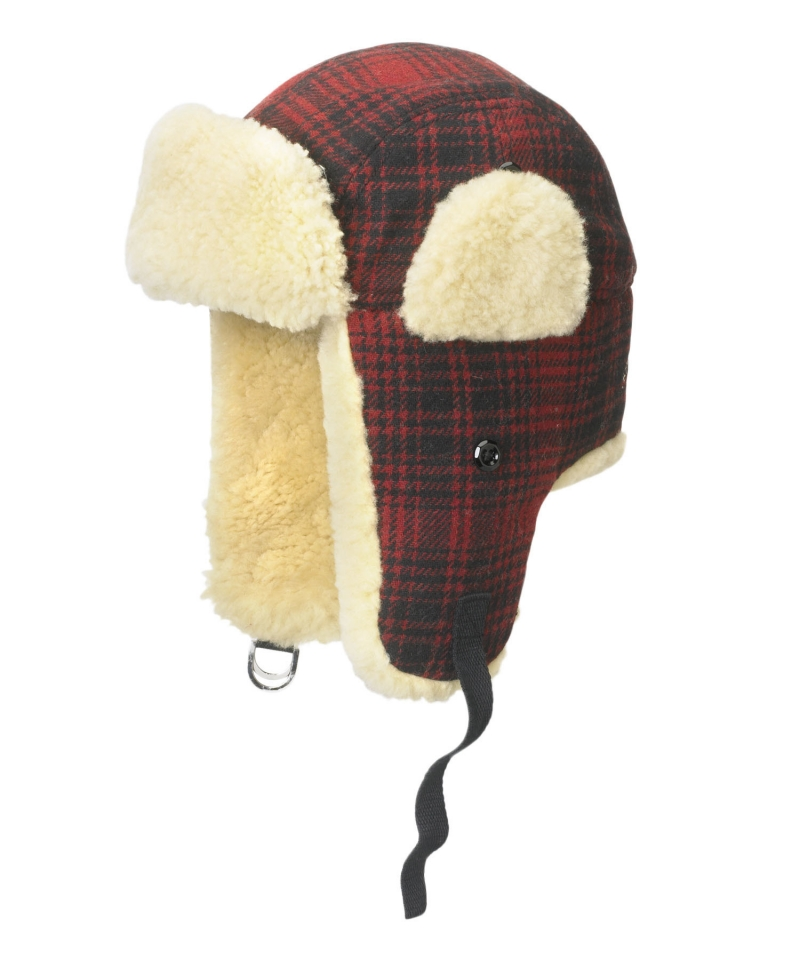 Men's Plaid Wool Hunting Hat