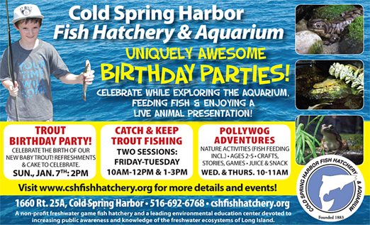 Click here to go to the Cold Spring Harbor Fish Hatchery and Aquarium website