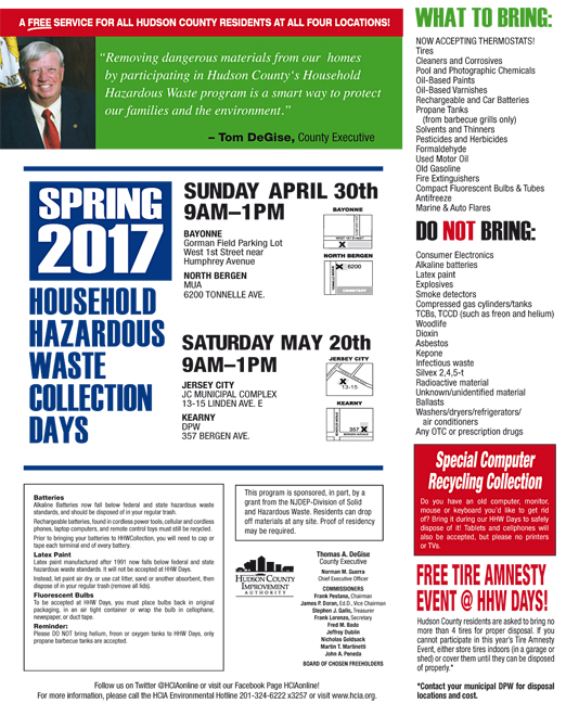 Click here to go to the Hudson County HHW website