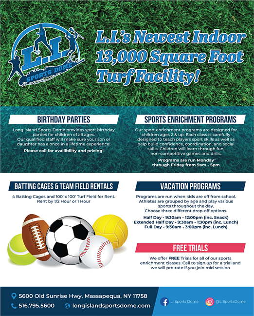 Click here to go to the Long Island Sports Dome_Program website
