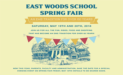 Click here to go to the East Woods School Spring Fair website