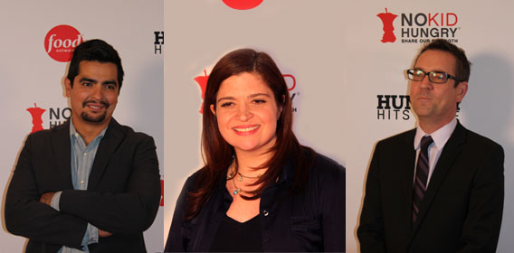 Food Network stars Aaron Sanchez, Alex Guarnaschelli and Tim Allen.