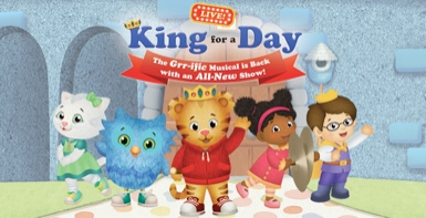 2 Tickets to Daniel Tiger's Neighborhood Live: King for a Day at NJPAC on October 14th at 5:30pm
